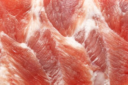 muscle fiber: Raw pork meat Textured for background Stock Photo