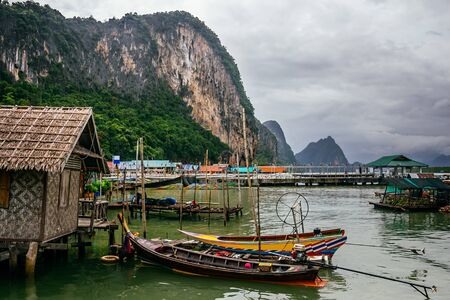 The Koh Panyi Muslim fishing village in the Pang Nga bay, Thailand