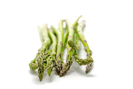 Green asparagus isolated on white Stock Photo