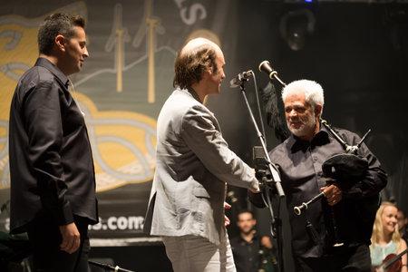 instrumentalist: Lubian, Spain - August 06, 2016: Carlos Nunez Performs At Festival folk rock Nas Portelas in Lubian, Zamora, Spain. Editorial