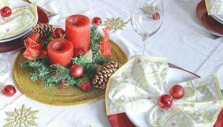 Christmas Family Dinner Table
