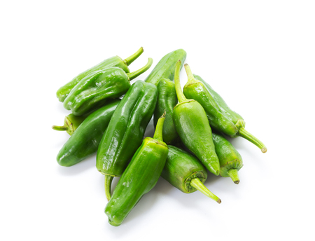 Green peppers isolated on white Stock Photo