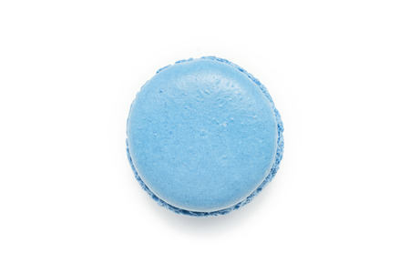 Blue Macaroon isolated on a white background. Stock Photo