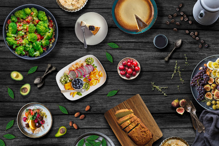 Mediterranean Food Table. Healthy Meal Concept
