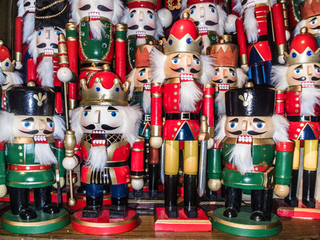 christmas nutcracker toy soldier collection various traditional christmas nutcrackers stand together as decoration stock photo - Toy Soldier Christmas Decoration