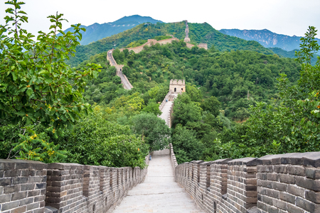 Beijing, China, the majestic Great Wall.