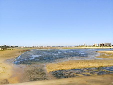Shellfish area next to isla cristina beach, Costa de la Luz, Huelva, Spain.