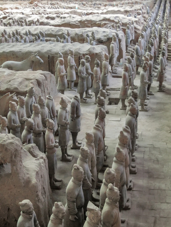 The Terracotta Army warriors at the tomb of China's First Emperor in Xian. Unesco World Heritage site. 報道画像