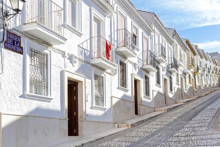 Typical Street in Estepa, province of Seville. Standard-Bild - 121821056