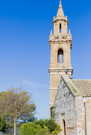 Church of Santa María la Mayor in Estepa, province of Seville. Standard-Bild - 121821057