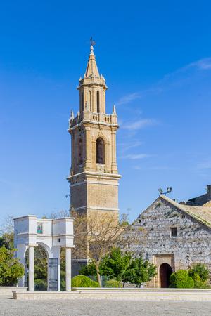 Church of Santa María la Mayor in Estepa, province of Seville. Standard-Bild - 121821060