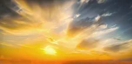Beautiful epic sunset Standard-Bild - 124096733