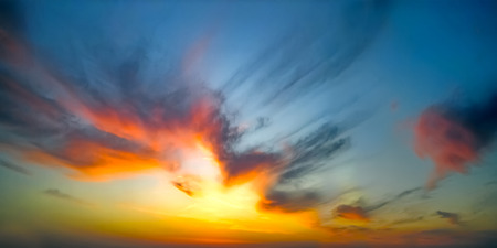 Beautiful epic sunset Standard-Bild - 124096737