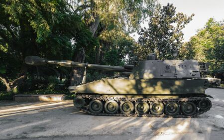 M109A5 155mm self-propelled Howitzer. Display of military vehicles. Stock Photo