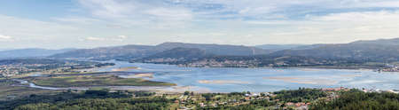 Mouth of the Miño river from Ancient Celtic Village In Santa Tecla. Pontevedra. Tourism in Galicia. The most beautiful spots in Spain. Stock Photo - 150943467