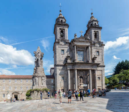Santiago de Compostela, Spain - August 20 2019: Convent of San Francisco. The Convent of San Francisco de Valdediós was founded by San Francisco de Asis on his visit to Santiago de Compostela in 1214.