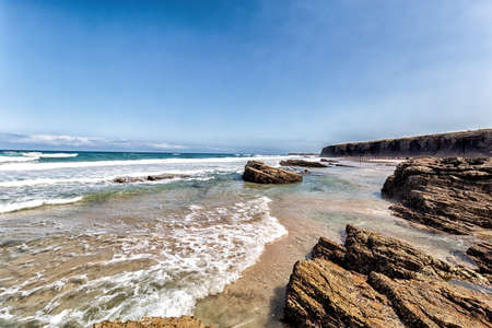 Cathedrals beach. Beautiful beach in Ribadeo. Tourism in Galicia. The most beautiful spots in Spain.