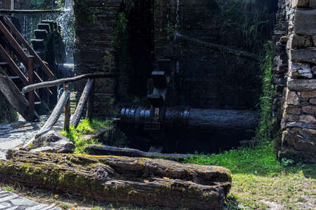 Water Mill in the village of Teixois, Los Oscos, Asturias. Ethnographic Site based on the integral use of the hydraulic energy of the river.