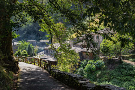 Teixois village, Los Oscos, Asturias. Ethnographic Site dates from the 18th century and is based on the integral use of the hydraulic energy of the river.