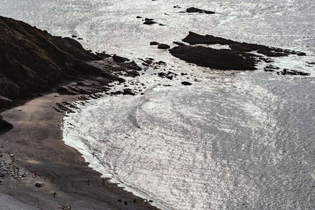Spectacular view of Rocky coast and beach in the north west of Spain. Lugo. Galicia. Spain.