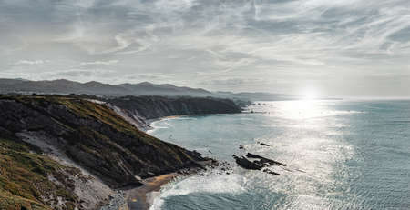Spectacular view of Rocky coast and cliffs in the north west of Spain. Lugo. Galicia. Spain.