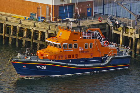Newcastle, United Kingdom - October 5th, 2014 - RNLI lifeboat 17-20 Spirit of Northumberland at her moorings