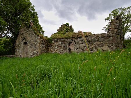 The ruin of St. Catherines friary in the town of Killybegs, Co. Donegal, built ca. 1535 for the Franciscans and later used as a Protestant church. Fell out of use when a new church was built in 1829.