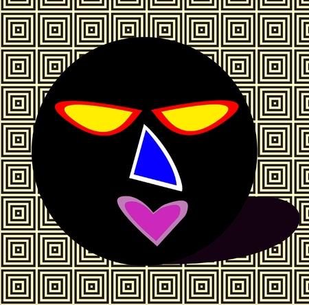 3D Image Of Evil Face Stock Vector Illustration