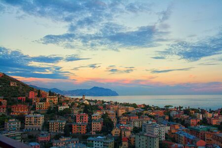 Panorama from home, fantastic view in Nervi, Genoa, Italy Stock Photo