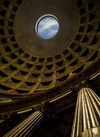 The Pantheon is an ancient Roman building located in the Pigna district in the historic center, built as a temple dedicated to all the divinities past, present and future. It was founded in 27 BC by Marco Vipsanio Agrippa, generous of Augustus Editorial