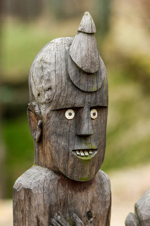 The traditional wooden African tribal statues. They look quite funny with their white eyes and teeth.