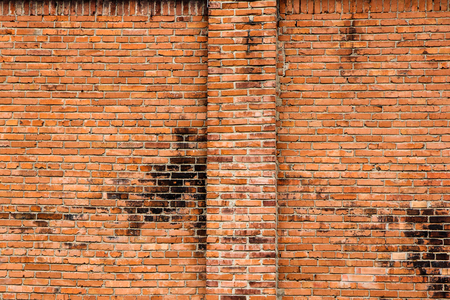 A picture of the historical small brick family house. The detail of the frontage. Banco de Imagens