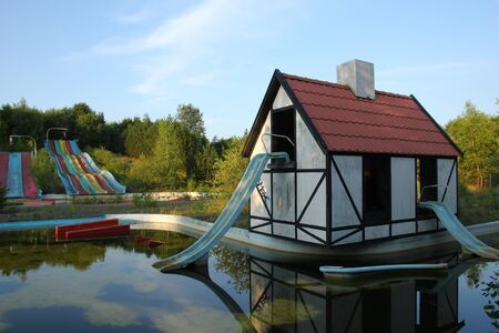 The abandoned amusement water park in Denmark. Not used for a long time.