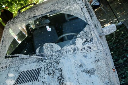 The detail of a car dirty from mud after the offroad race. It needs to be cleaned. Stock fotó