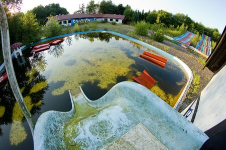 The abandoned amusement water park in Denmark called Fun park Finn. Not used for a long time.