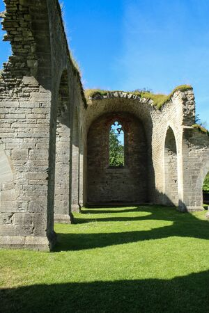The ruins of the old cloister in Alvastra in Sweden suring the nice sumemr day. A tourist attraction. Stock fotó - 138182579