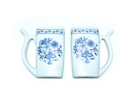 The traditional jug for drinking of the mineral water in spas.