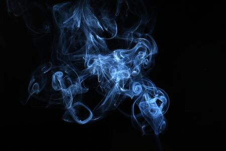 The abstract picture of the smoke. made by usage of the flash against black background.