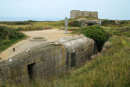 The fortification by the city of Fécamp in Normandy in France made during the second world war by the German army as a protection of the shore in France by the Channel.