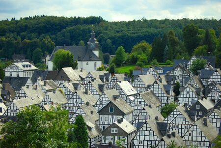 typical German village of Freudenberg photo