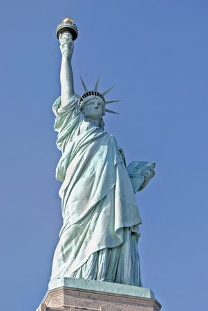 Statue of Liberty on Liberty Island, New York City, USA photo