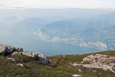 Lake Garda seen from Mt. Baldo photo