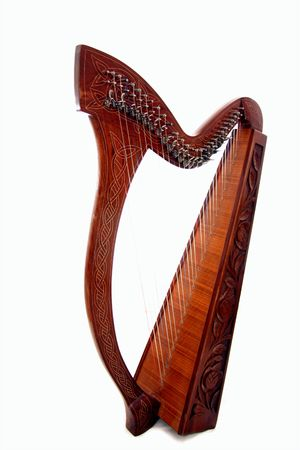 harp: harp on white