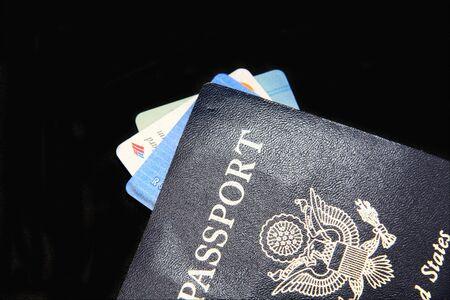 パスポートとクレジット カード 写真素材