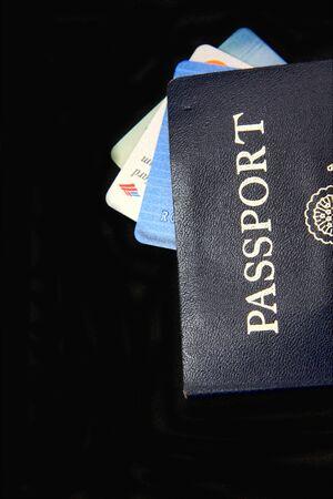 여권 및 신용 카드 스톡 콘텐츠