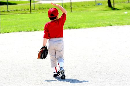 야구를하는 아이 스톡 콘텐츠