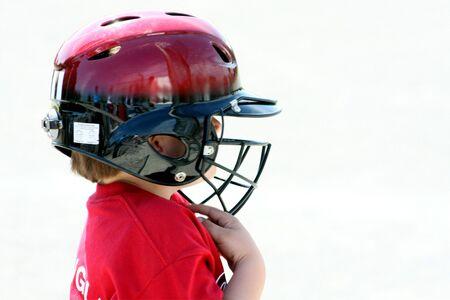 작은 소년 큰 헬멧