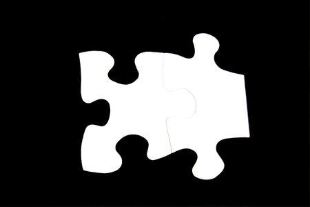 검정에 흰색 퍼즐 조각