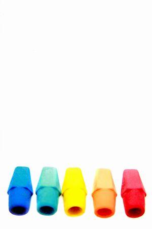 색깔의 지우개 행