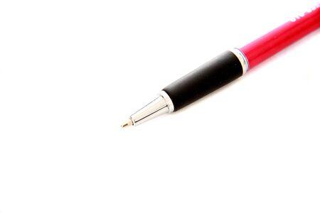 빨간 펜을 가까이 스톡 콘텐츠